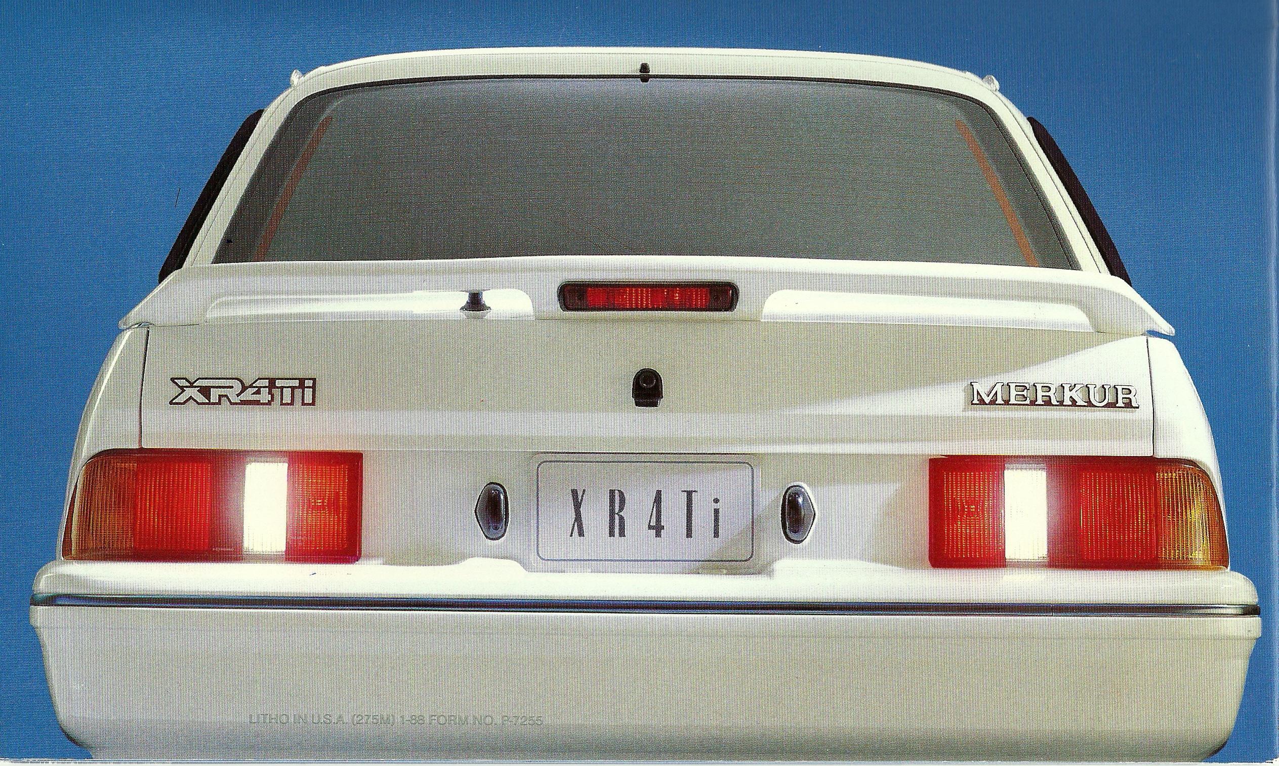Merkur XR4Ti 1988 achterkant